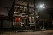 Brooklyn at night.  New York, USA