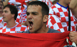 Fan of Croatia during the UEFA EURO 2008 Group B soccer match between Austria and Croatia at Ernst-Happel Stadium, on June 8,2008, in Vienna, Austria.  (Photo by Vid Ponikvar / Sportal Images)
