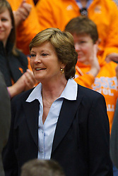 Dec 20, 2011; Stanford CA, USA;  Tennessee Lady Volunteers head coach Pat Summitt on the sidelines against the Stanford Cardinal before the game at Maples Pavilion.  Stanford defeated Tennessee 97-80. Mandatory Credit: Jason O. Watson-US PRESSWIRE