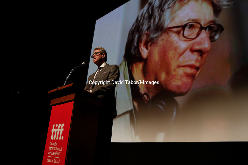 PIERS HANDLING, TIFF CEO on stage during introductions to 'Therese Desqueyroux' at the 2012 Toronto International Film Festival, September 11th, 2012. Photo by David Tabor/i-Images.