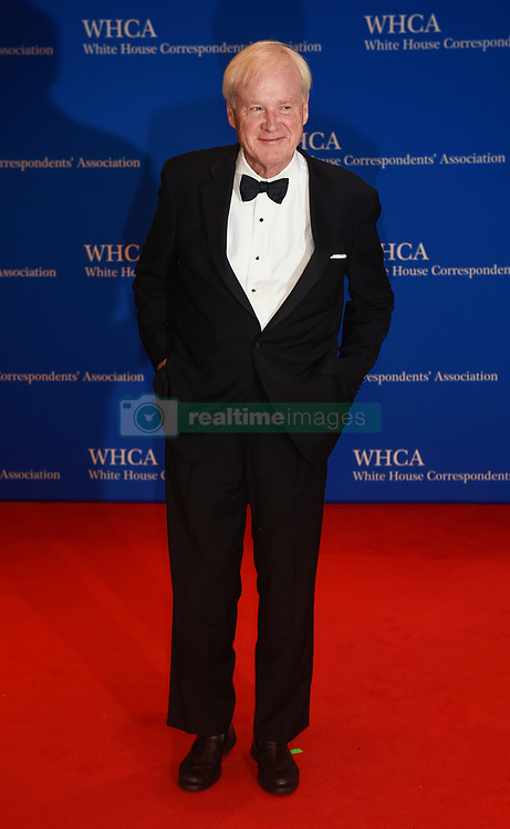Political Commentator Chris Matthews arrives for the White House Correspondents' Association (WHCA) dinner in Washington, D.C., on Saturday, April 29, 2017 (Photo by Riccardo Savi)  *** Please Use Credit from Credit Field ***
