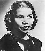 Marian Anderson (1899-1993) American contralto. First black singer to appear at the Metropolitan Opera, New York (1955). Photograph