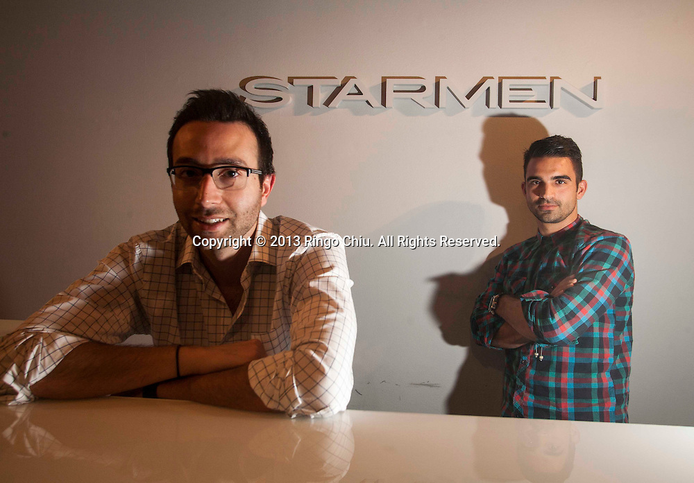 Armen David, founder, left, and  Anthony Wiktor, right, creative director, of  of Starmen Design Group in Hollywood.. (Photo by Ringo Chiu/PHOTOFORMULA.com)