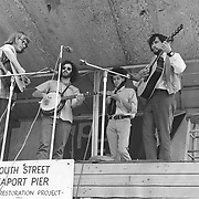 Bottle Hill, a progressive bluegrass band with it's original lineup: Walt Michael, Lew London, Barry Mitterhoff, and Jim Albertson. Here they are playing a fundraising festival in lower Manhattan.