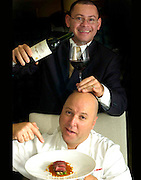 Chef Wilo Bennet and somelier.