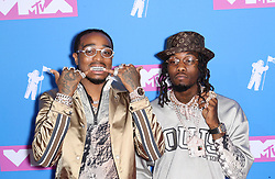 August 21, 2018 - New York City, New York, USA - 8/20/18.Offset and Quavo of Migos at the 2018 MTV Video Music Awards held at Radio City Music Hall in New York City..(NYC) (Credit Image: © Starmax/Newscom via ZUMA Press)