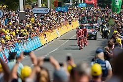 Team Sunweb (GER,WT,Cervélo) during stage 2 TTT from Bruxelles to Brussel of the 106th Tour de France, 7 July 2019. Photo by Pim Nijland / PelotonPhotos.com | All photos usage must carry mandatory copyright credit (Peloton Photos | Pim Nijland)