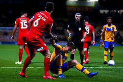 Danny Rose of Mansfield Town is helped to his feet by Josh Coulson of Leyton Orient - Mandatory by-line: Ryan Crockett/JMP - 20/08/2019 - FOOTBALL - One Call Stadium - Mansfield, England - Mansfield Town v Leyton Orient - Sky Bet League Two