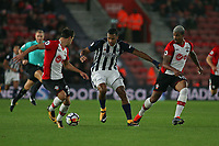 Football - 2017 / 2018 Premier League - Southampton vs. West Bromwich Albion<br /> <br /> Salomon Rondon of West Bromwich Albion finds his way to goal blocked in a rare attack at St Mary's Stadium Southampton<br /> <br /> COLORSPORT/SHAUN BOGGUST