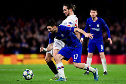 Mateo Kovacic of Chelsea is marked by Yusuf Yazici of Lille - Mandatory by-line: Ryan Hiscott/JMP - 10/12/2019 - FOOTBALL - Stamford Bridge - London, England - Chelsea v Lille - UEFA Champions League group stage