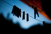 Domingos Martins_ES, Brasil...Silhueta de pregador de roupa...Clothes-pegs silhouette...Foto: LEO DRUMOND / NITRO