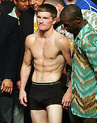 Ricky Hatton and his trainer Floyd Mayweather Snr at the weigh in for the Light Welterweight title fight between Ricky Hatton and Manny Pacquiao at the MGM Grand, Las Vegas, 1st May 2009.