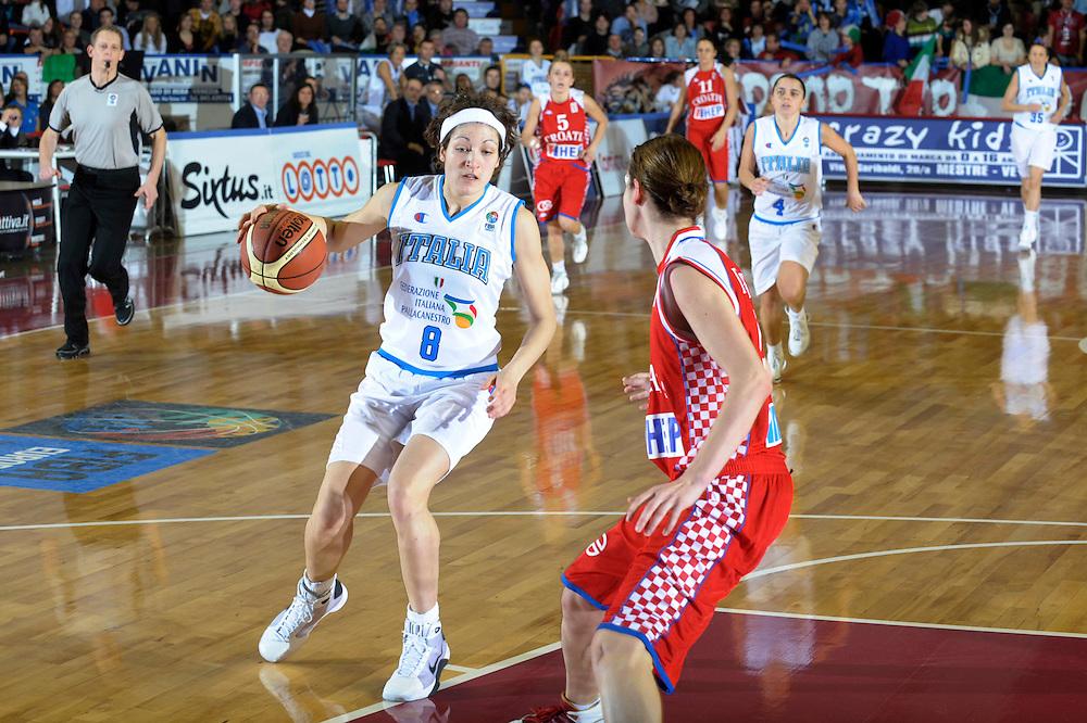 DESCRIZIONE : Venezia Additional Qualification Round Eurobasket Women 2009 Italia Croazia<br /> GIOCATORE : Simona Ballardini<br /> SQUADRA : Nazionale Italia Donne<br /> EVENTO : Italia Croazia<br /> GARA :<br /> DATA : 10/01/2009<br /> CATEGORIA : Palleggio<br /> SPORT : Pallacanestro<br /> AUTORE : Agenzia Ciamillo-Castoria/M.Gregolin