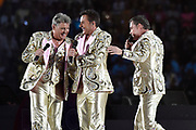 Toppers in Concert 'Royal Night of Disco' in de Amsterdam ArenA.<br /> <br /> Op de foto:  Rene Froger, Jeroen van der Boom en Gerard Joling