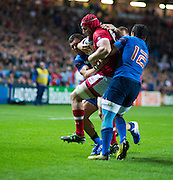 Milton Keynes, Great Britain, Kyle GILMOUR, running at the French Line   during the Pool D Game, France vs Canada.  2015 Rugby World Cup, Venue, StadiumMK, Milton Keynes, ENGLAND.  Thursday  01/10/2015<br /> Mandatory Credit; Peter Spurrier/Intersport-images]