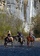 Horseback riders, Buffalo National River, Arkansas.