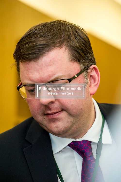 Pictured: Colin Smith, MSP<br /> Thousands of Scottish women have been fitted with polypropylene transvaginal mesh to treat pelvic organ prolapse or stress urinary incontinence. As a result women in every Scottish constituency have been severely injured or permanently disabled following this procedure, some have lost organs, many their careers and their relationships. The women and their families  are asking MSPs to sign a pledge <br /> <br /> Ger Harley   EEm 16 March 2017