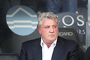 Hull City manager Steve Bruce  during the Sky Bet Championship play-off 2nd leg match between Hull City and Derby County at the KC Stadium, Kingston upon Hull, England on 17 May 2016. Photo by Simon Davies.