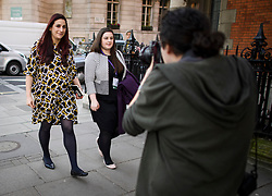 © Licensed to London News Pictures. 21/02/2019. London, UK. The Independent Group MP, LUCIANA BERGER (L) is seen in Westminster, London. Conservative and Labour MPs have resigned form their respective parties . and joined newly formed The Independent Group, a breakaway campaign group formed by seven defecting Labour MPs. Photo credit: Ben Cawthra/LNP