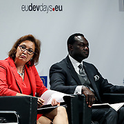 04 June 2015 - Belgium - Brussels - European Development Days - EDD - Migration - Migration is development - Making migration a driver for development - Laura Thompson , Deputy Director General , International Organization for Migration (IOM) - Gibril Faal<br /> Interim Director, Africa-Europe Development Platform © European Union