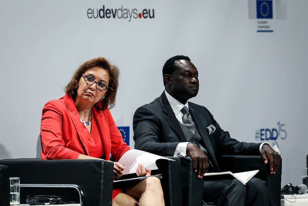 04 June 2015 - Belgium - Brussels - European Development Days - EDD - Migration - Migration is development - Making migration a driver for development - Laura Thompson , Deputy Director General , International Organization for Migration (IOM) - Gibril Faal<br /> Interim Director, Africa-Europe Development Platform &copy; European Union