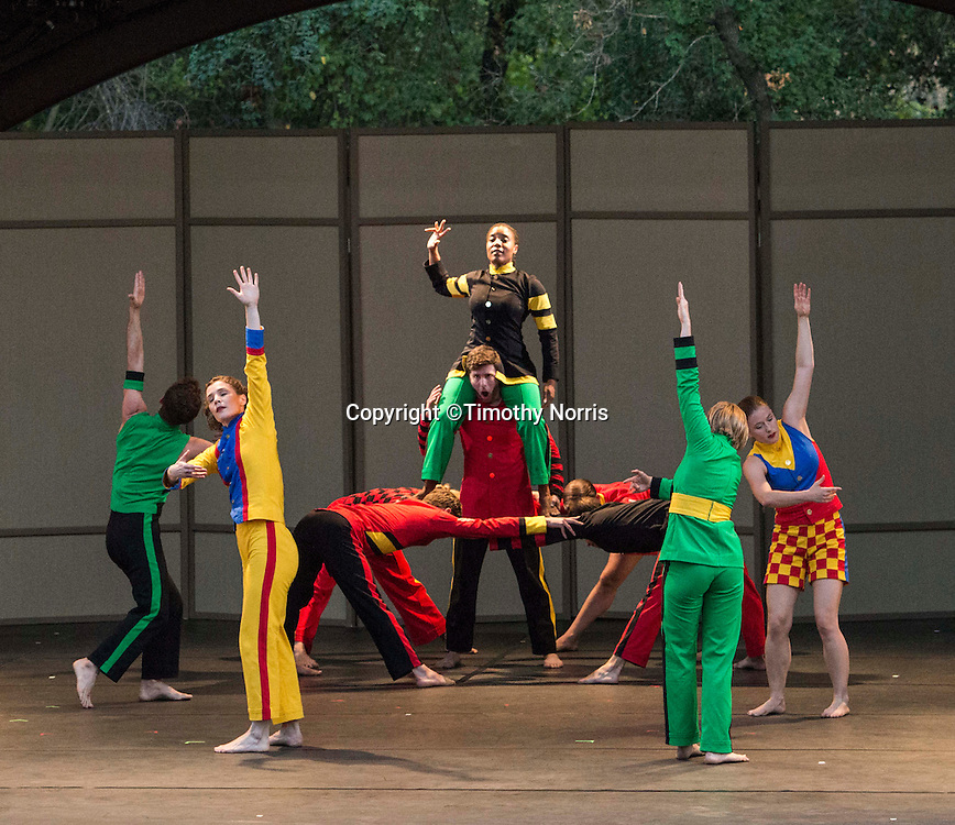 "Mark Morris Dance Group perfoms ""Empire Garden"" at Libbey Bowl on June 7, 2013 in Ojai, California."