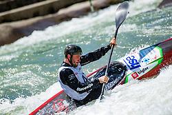 Zan Jakse during Kayak Single (K1) Men race of Tacen Cup 2020 on May 24, 2020 in Tacen, Ljubljana, Slovenia. Photo By Grega Valancic / Sportida