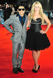 © Licensed to London News Pictures. 24/01/2012. London, England.Corey Feldman and Chemmy Alcott attends the world premiere of The Woman in Black , Hammer Films new horror movie at The Royal Festival hall  London  Photo credit : ALAN ROXBOROUGH/LNP