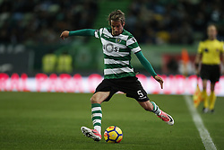 December 1, 2017 - Lisbon, Portugal - Sporting's defender Fabio Coentrao in action  during Primeira Liga 2017/18 match between Sporting CP vs CF Belenenses, in Lisbon, on December 1, 2017. (Credit Image: © Carlos Palma/NurPhoto via ZUMA Press)