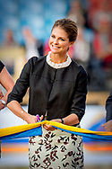 21-08-2017 GOTHENBURG Zweden Prinses Madeleine tijdens de cavalcade bij de opening van het Longines FEI Europees Kampioenschap Göteborg 2017 in het Ullevi Stadion in Zweden. COPYRIGHT ROBIN UTRECHT 21-08-2017 GOTENBORG Sweden Princess Madeleine during the cavalcade at the opening of the Longines FEI European Championships Gothenburg 2017 in the Ullevi Stadium in Sweden. COPURIGHT ROBIN UTRECHT