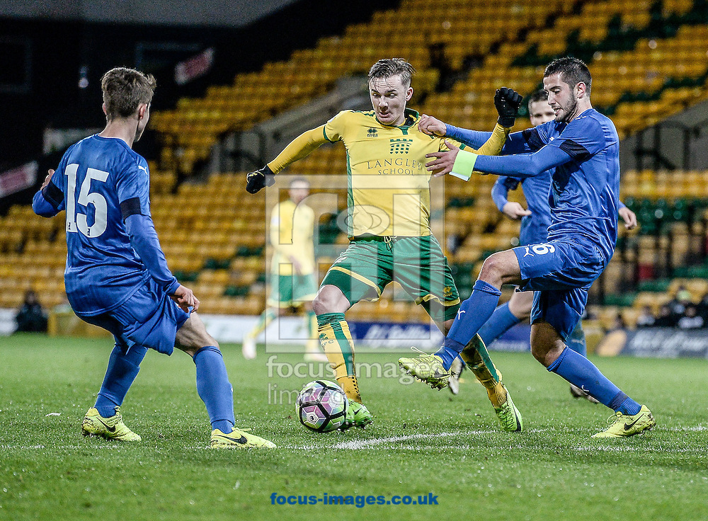 James Maddison of Norwich City U23 versus Dinamo Zagreb U23 during the Premier League International Cup Quarter-Final match at Carrow Road, Norwich<br /> Picture by Matthew Usher/Focus Images Ltd +44 7902 242054<br /> 27/02/2017