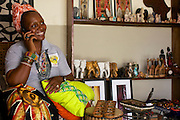Maureen Okon runs a craft shop called 'Afrocentric Afrique'.<br /> <br /> Maureen was so inspired by what she learnt, and the other women, at the Youth for Technology business training that she never went back to her consultancy job, she resigned there and then. <br /> <br /> She found the business planning and SWOT analaysis advice the most useful and she uses the business support text messages for ongoing support and motivation.