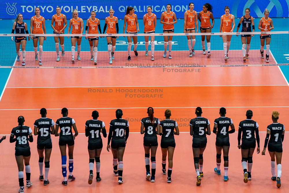 03-08-2019 ITA: FIVB Tokyo Volleyball Qualification 2019 / Netherlands, - Kenya Catania<br /> 3rd match pool F in hall Pala Catania between Netherlands - Kenya. Netherlands win 3-0 / Line up Team Netherlands and Kenya