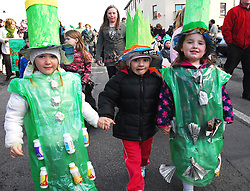A Green future for these 3 Robeen Rascals as the theme of Recycling & sustainability was featured at the St Patricks parade in Ballinrobe...Pic Conor McKeown