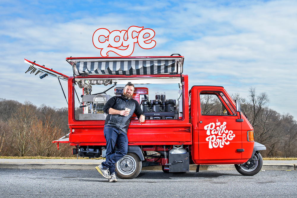 Matt Fouse, Owner of Park and Perk Coffee Truck<br /> <br /> CREDIT: Matt Roth