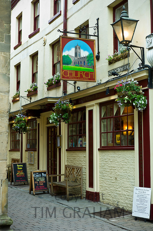 The Church Inn, Tudor architecture in Ludlow, Shropshire, UK