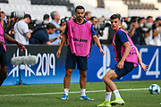 Chelsea midfielder Pedro (11) during the Chelsea Training session ahead of the 2019 UEFA Super Cup Final between Liverpool FC and Chelsea FC at BJK Vodafone Park, Istanbul, Turkey on 13 August 2019.