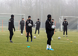 13.01.2020, Waldstadion, Pasching, AUT, 1. FBL, Trainingsauftakt, LASK, im Bild v.l. Husein Balic (LASK), Peter Michorl (LASK), Petar Filipovic (LASK Linz), Reinhold Ranftl (LASK), Samuel Tetteh (LASK Linz), // during a Trainingssession of Austrian tipico Bundesliga Club LASK at the Waldstadion in Pasching, Austria on 2020/01/13. EXPA Pictures © 2020, PhotoCredit: EXPA/ Reinhard Eisenbauer