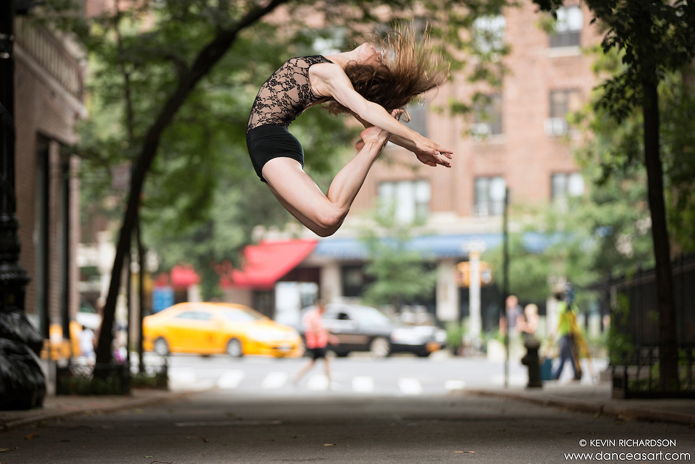 Streets of New York City Dance As Art Photography Project in West Village featuring dancer Kathryn Mulcahey
