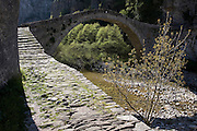 Greece, Epirus, Zagori, Pindus Mountains, Kokori Arched Stone Bridge