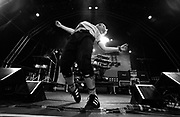 Keith from Prodigy dances on stage, U.K, 1997.