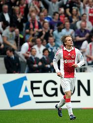 25-04-2010 VOETBAL: AJAX - FEYENOORD: AMSTERDAM<br /> De eerste wedstrijd in de bekerfinale is gewonnen door Ajax met 2-0 / Siem de Jong scoort de 1-0 <br /> ©2009-WWW.FOTOHOOGENDOORN.NL