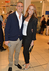Actress PATSY PALMER and RICHARD MERKELL at the launch of A Season In France hosted by Jasper Conran at The Conran Shop, 81 Fulham Road, London on 1st May 2014.