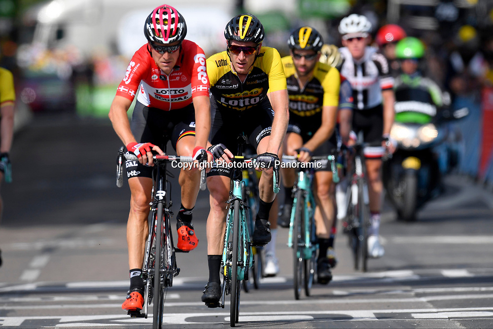 TROYES, FRANCE - JULY 6 : BENNETT George (NZL) Rider of Team Lotto NL - Jumbo during stage 6 of the 104th edition of the 2017 Tour de France cycling race, a stage of 216 kms between Vesoul and Troyes on July 06, 2017 in Troyes, France, 6/07/2017