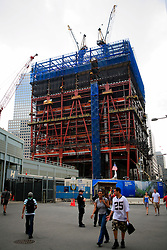 USA NEW YORK JUN10 - One World Trade Centre Plaza building site in downtown Manhattan, New York...jre/Photo by Jiri Rezac..© Jiri Rezac 2010