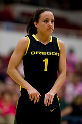 February 18, 2010; Stanford, CA, USA;  Oregon Ducks guard Taylor Lilley (1) during the first half against the Stanford Cardinal at Maples Pavilion. Stanford defeated Oregon 104-60.