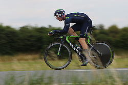 26.06.2015, Einhausen, GER, Deutsche Strassen Meisterschaften, im Bild Jasha Suetterlin (Movistar Team) // during the German Road Championships at Einhausen, Germany on 2015/06/26. EXPA Pictures © 2015, PhotoCredit: EXPA/ Eibner-Pressefoto/ Bermel<br /> <br /> *****ATTENTION - OUT of GER*****