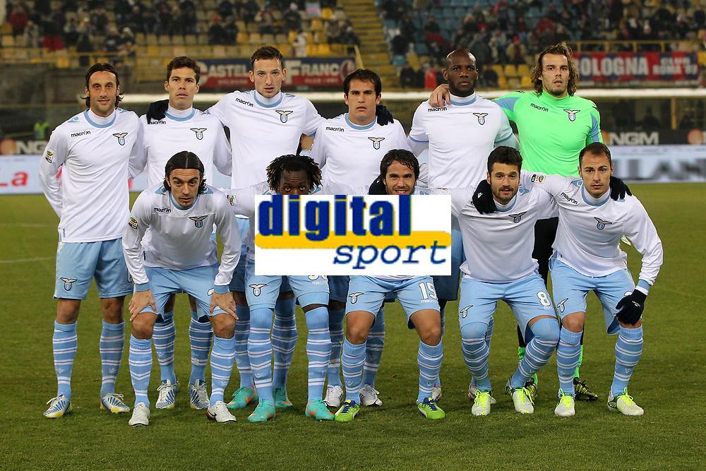 """Formazione Lazio.Bologna 10/12/2012 Stadio """"Dall'Ara"""".Football Calcio Serie A 2012/13.Bologna v Lazio.Foto Insidefoto Paolo Nucci."""