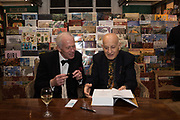 MAJ GEN MATTHEW SYKES; NAIM ATTALLAH, book launch for No Longer With Us by Naim Attallah. Daunt books. Marylebone. London. 28 Novermber 2018