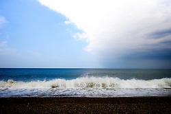 Changing sky over Cley Eye, North Norfolk Coast, England, UK.